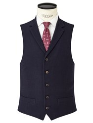John Lewis And Co. Thurloe Brushed Wool Tailored Waistcoat Navy