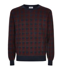 Brioni Jacquard Cashmere Blend Sweater Male Red