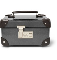 Globe Trotter Leather Trimmed Watch Case Gray