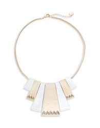 House Of Harlow Geometric Statement Necklace Gold