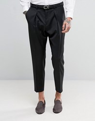 Hugo By Boss Cropped Trousers Black