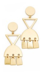 Madewell Geo Metal Statement Earrings Light Gold Ox