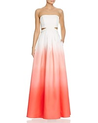 Decode 1.8 Ombre Cutout Gown Ivory Coral