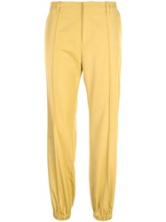 Opening Ceremony Elasticated Cuff Cropped Trousers Yellow