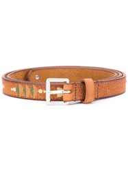 Htc Hollywood Trading Company Pathway Print Belt Women Leather 75 Nude Neutrals