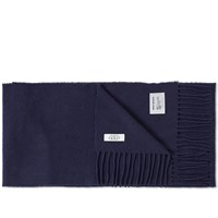 Norse Projects X Johnstons Of Elgin Lambswool Scarf Blue