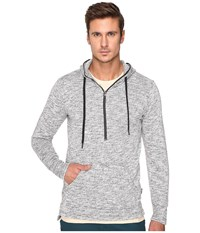 Publish Haro Heathered Speckle Terry Hoodie With Flat Bottom Long Back Hem Black Men's Sweatshirt