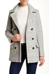 Soia And Kyo Textured Wide Lapel Jacket Gray
