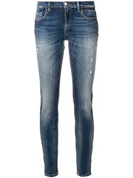 Frankie Morello Classic Skinny Fit Jeans Blue