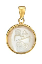 Asha Women's Zodiac Mother Of Pearl Charm Gemini