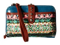 The Sak Iris Smartphone Crossbody Teal Tribal Cross Body Handbags Multi