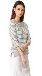 Stateside Long Sleeve Stripe Sweatshirt Heather Grey