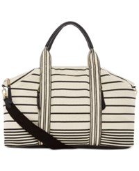 Splendid Monterey Weekender Tote Black Stripe