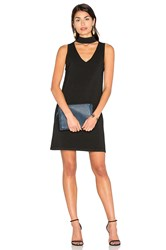 Milly Italian Structured Shift Dress Black