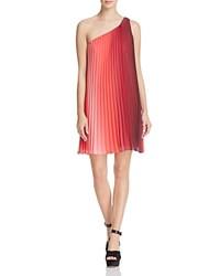 Likely Fenimore One Shoulder Pleated Dress Flamingo Multi