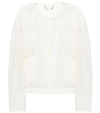 Chloe Lace Cardigan White
