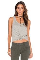 Wilt Shrunken Shirttail Tank Grey
