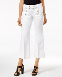 Michael Kors Cropped White Wash Sailor Jeans
