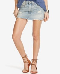 Denim And Supply Ralph Lauren Distressed Miniskirt Tillary