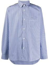 Junya Watanabe Man Deconstructed Shirt Blue