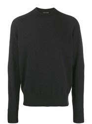 Tom Ford Crew Neck Knitted Jumper Grey