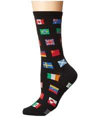 Socksmith Flags Of The World Black 1 Crew Cut Socks Shoes