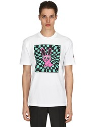 Mcq By Alexander Mcqueen Acid Bunny Printed Cotton Jersey T Shirt White Multi