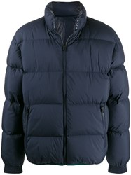 Kenzo Reversible Colour Block Puffer Jacket Blue