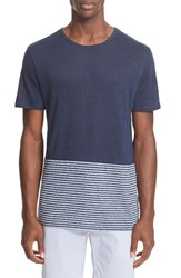 Onia Men's Chad Colorblock Linen T Shirt