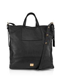 Kooba Bolivia Reversible Leather And Linen Tote Black Gold