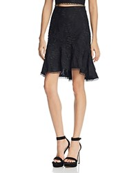 Lucy Paris Embroidered High Low Skirt Black