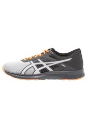 Asics Fuzor Cushioned Running Shoes Midgrey White Hot Orange