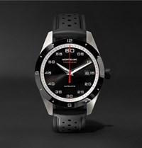 Montblanc Timewalker Date Automatic 41Mm Stainless Steel Ceramic And Rubber Watch Black