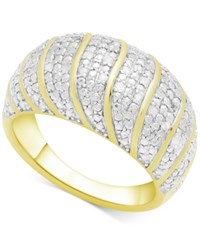 Victoria Townsend Diamond Dome Statement Ring 1 4 Ct. T.W. In 18K Gold Plated Sterling Silver Yellow Gold