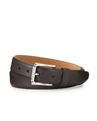 Cole Haan Grained Leather Belt Chocolate