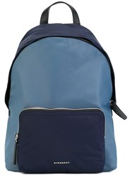 Burberry House Check Strap Backpack Blue