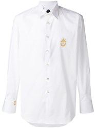 Billionaire Embroidered Logo Shirt White