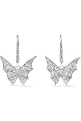 Stephen Webster Fly By Night 18 Karat White Gold Diamond Earrings
