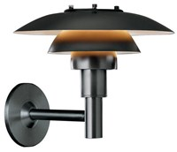 Louis Poulsen Ph 3 2 1 2 Wall Sconce Black