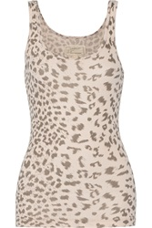 Current Elliott The Perfect Leopard Print Cotton Tank