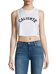 Chrldr Printed Crop Top White