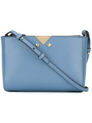 Emporio Armani Zipped Cross Body Bag Blue