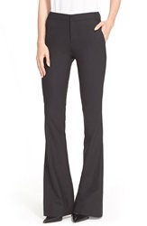 Parker 'Dolan' Stretch Wool Bell Bottom Pants Black