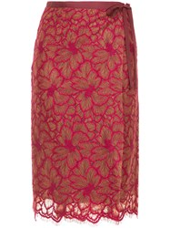 Aula Lace Skirt Red