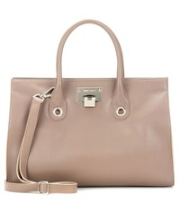 Jimmy Choo Riley Leather Tote Brown
