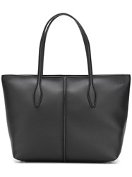 Tod's Tag Detail Tote Black