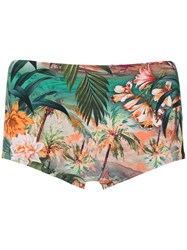 Lygia And Nanny Printed Copacabana Swimming Trunks Green