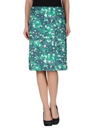 Laura Urbinati Knee Length Skirts Deep Jade