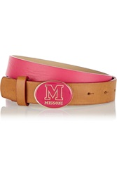 M Missoni Leather Belt Pink