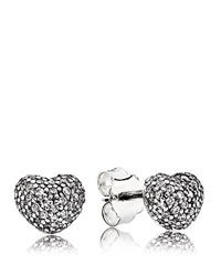 Pandora Design Pandora Earrings In My Heart Sterling Silver And Cubic Zirconia